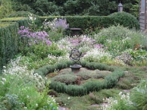 This armillary sphere is the centerpiece of a whole garden